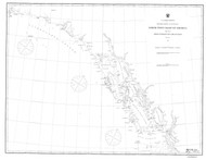 Dixon Entrance to Cape St. Elias 1868 Nautical Chart 1,200,000 Scale  Alaska Sailing Chart 701