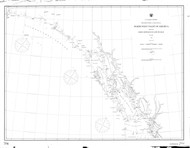 Dixon Entrance to Cape St. Elias 1877 Nautical Chart 1,200,000 Scale  Alaska Sailing Chart 701