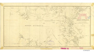 Dixon Entrance 1882 Nautical Chart 1,200,000 Scale  Alaska Sailing Chart 701