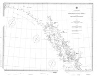 Dixon Entrance to Cape St. Elias 1886 Nautical Chart 1,200,000 Scale  Alaska Sailing Chart 701