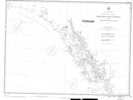Dixon Entrance to Cape St. Elias 1889 Nautical Chart 1,200,000 Scale  Alaska Sailing Chart 701