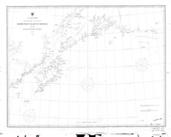 Icy Bay to Seven Islands 1868 Nautical Chart 1,200,000 Scale  Alaska Sailing Chart 702