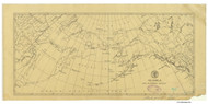 Alaska and Adjoining Region 1873 Nautical Chart 13,728,432 Scale  Alaska Sailing Chart 960