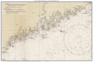 Chart of Lighthouses and Beacons - Casco Bay to Machias Bay 1935 - Old Map Custom Print Big Area 50-52