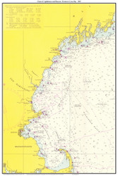Chart of Lighthouses and Beacons - Boston to Casco Bay 1965 - Old Map Custom Print Big Area 50-52