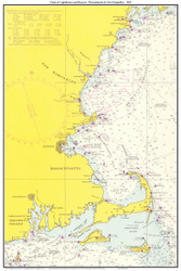 Chart of Lighthouses and Beacons - Massachusetts & New Hampshire 1965 - Old Map Custom Print Big Area 50-52
