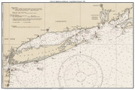 Chart of Lighthouses and Beacons - Long Island to Newport 1935 - Old Map Custom Print Big Area 50-52