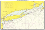 Chart of Lighthouses and Beacons - Long Island to Newport 1965 - Old Map Custom Print Big Area 50-52