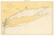 Long Island Nautical Map 1918 - Old Map Custom Print Big Area 50-52