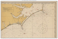 Chart of Lighthouses and Beacons - Cape Hatteras to Cape Lookout 1925 - Old Map Custom Print General 1100s