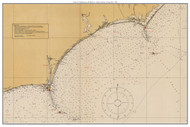 Chart of Lighthouses and Beacons - Cape Lookout to Cape Fear 1925 - Old Map Custom Print General 1100s