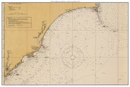 Chart of Lighthouses and Beacons - Cape Fear to Charleston 1925 - Old Map Custom Print General 1100s