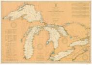 Great Lakes 1909 - Old Map Reprint Nautical Chart LS0