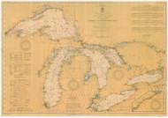 Great Lakes 1911 - Old Map Reprint Nautical Chart LS0
