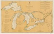 Great Lakes 1916 - Old Map Reprint Nautical Chart LS0