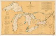 Great Lakes 1921 - Old Map Reprint Nautical Chart LS0