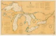 Great Lakes 1926 - Old Map Reprint Nautical Chart LS0