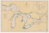 Great Lakes 1944 - Old Map Reprint Nautical Chart LS0