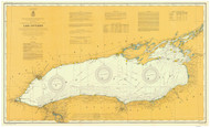 Lake Ontario 1907 - Old Map Nautical Chart Reprint LS2