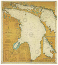 Lake Huron 1908 - Old Map Nautical Chart Reprint LS5