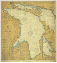 Lake Huron 1910 - Old Map Nautical Chart Reprint LS5