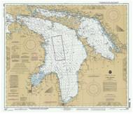 Lake Huron 1993 - Old Map Nautical Chart Reprint LS5