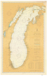 Lake Michigan 1906 - Old Map Nautical Chart Reprint LS7