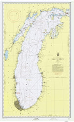 Lake Michigan 1957 - Old Map Nautical Chart Reprint LS7