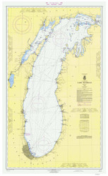 Lake Michigan 1966 - Old Map Nautical Chart Reprint LS7