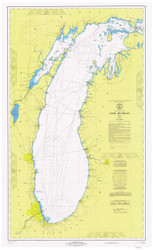 Lake Michigan 1972 - Old Map Nautical Chart Reprint LS7