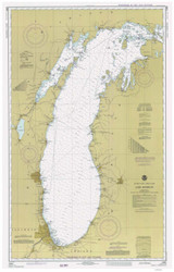 Lake Michigan 1978 - Old Map Nautical Chart Reprint LS7