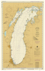 Lake Michigan 1983 - Old Map Nautical Chart Reprint LS7