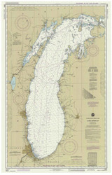 Lake Michigan 1989 - Old Map Nautical Chart Reprint LS7