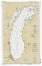 Lake Michigan 1993 - Old Map Nautical Chart Reprint LS7