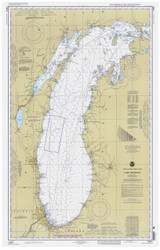 Lake Michigan 1999 - Old Map Nautical Chart Reprint LS7