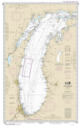 Lake Michigan 2016 - Old Map Nautical Chart Reprint LS7