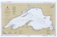 Lake Superior 1984 - Old Map Nautical Chart Reprint LS9