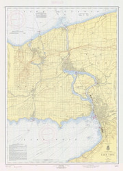 Lake Erie - North and Northwestern Lakes 1959 Lake Erie Harbor Chart Reprint 31