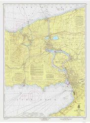 Lake Erie - North and Northwestern Lakes 1965 Lake Erie Harbor Chart Reprint 31