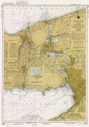 Lake Erie - North and Northwestern Lakes 1984 Lake Erie Harbor Chart Reprint 32