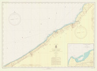Lake Erie - Sturgeon Pt. to Twenty Mile Creek 1943 Lake Erie Harbor Chart Reprint 32