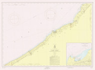 Lake Erie - Sturgeon Pt. to Twenty Mile Creek 1956 Lake Erie Harbor Chart Reprint 32