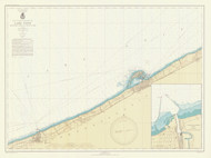 Lake Erie - Sixteenmile Creek to Conneaut 1943 Lake Erie Harbor Chart Reprint 33