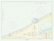 Lake Erie - Sixteenmile Creek to Conneaut 1965 Lake Erie Harbor Chart Reprint 33
