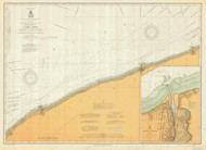 Lake Erie - Ashtabula to Chagrin River 1913 Lake Erie Harbor Chart Reprint 34