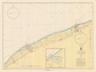 Lake Erie - Ashtabula to Chagrin River 1943 Lake Erie Harbor Chart Reprint 34