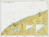 Lake Erie - Ashtabula to Chagrin River 1978 Lake Erie Harbor Chart Reprint 34