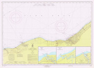 Lake Erie - Moss Point to Vermilion 1965 Lake Erie Harbor Chart Reprint 35