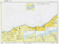 Lake Erie - Moss Point to Vermilion 1975 Lake Erie Harbor Chart Reprint 35