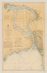 Upper Niagara River 1901 Lake Erie Harbor Chart Reprint 312